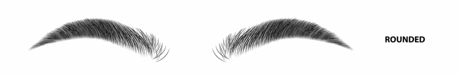 An illustration of the rounded eyebrow shape